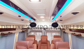 11 seater deluxe 1x1 tempo traveller on rent in delhi