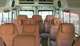 12 seater 2x1 tempo traveller rental in delhi