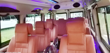 12 seater bed deluxe tempo traveller hire in delhi