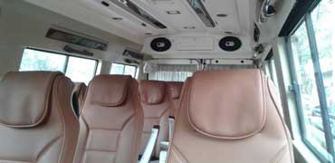 15 seater pkn modified tempo traveller hire