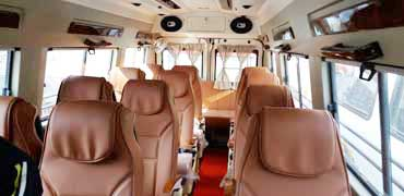 16 seater luxury pkn modified tempo traveller hire delhi