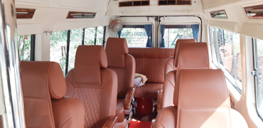 6+1 bed tempo traveller hire in delhi
