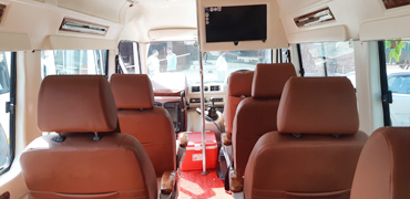 8 seater deluxe 1x1 tempo traveller hire