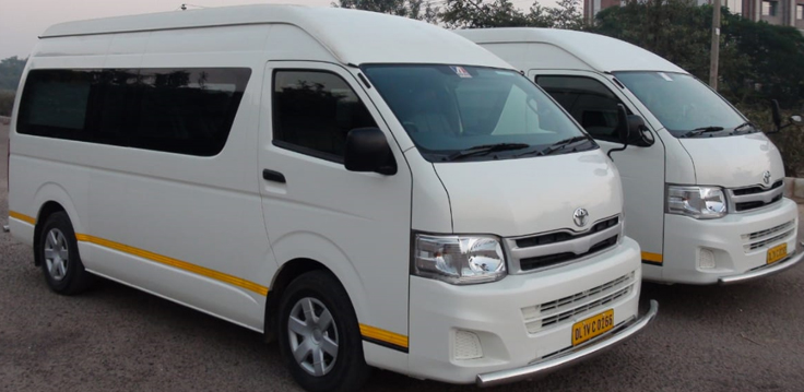8 Seater Toyota Hiace Commuter Luxury Van Hire Delhi
